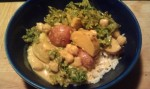Sweet Potato Curry and Greens
